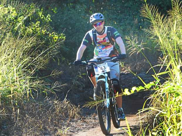 Billy-Joe Siddins who fought a motorbike speeding ticket in the Rockhampton Magistrates Court this week riding a mountain bike at First Turkey.