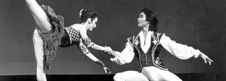 Former Rockhampton resident Mary McKendry on stage with now husband Li Cunxin - the man behind the inspirational true story of Mao's Last Dancer.