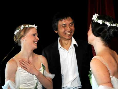 Queensland Ballet brings Giselle to the Brolga Theatre -  lead ballerinas and Artistic Director, Li Cunxin. Photo: Valerie Horton / Fraser Coast Chronicle