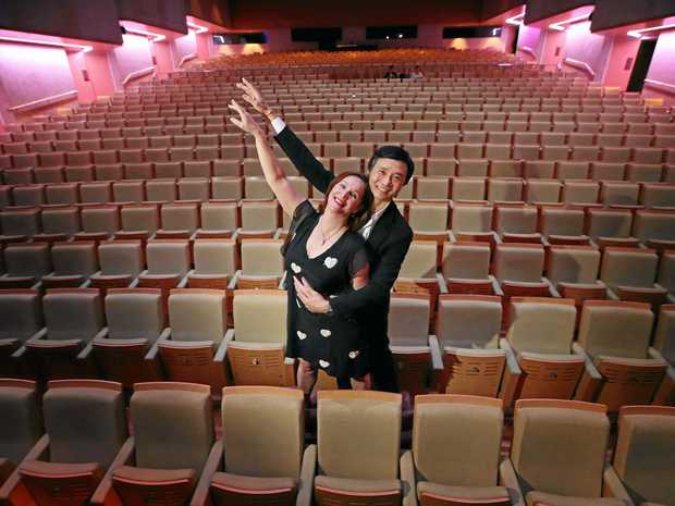 12/9/17: Queensland Ballet artistic director Li Cunxin, with his wife Mary McKendry, at QPAC, South Brisbane. Cunxin will be on stage with his wife for the first time in 26 years, next year in The Nutcracker. Lyndon Mechielsen/The Austrtalian