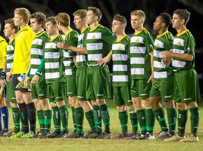 CLOSE BOND: The skilful Western Pride squad ahead of their recent NPL semi-final.