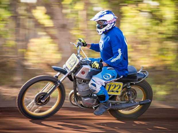 WHO YOU CALLIN' OLD? Proserpine local Ron Draper still rides at 70.