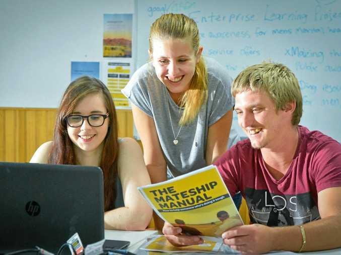 MATES MENTAL HEALTH: Zac Crosswell, Sarah Rodwell and Ashleigh Emerson at National Job Link.