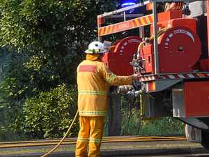 Shed blaze under control, still burning