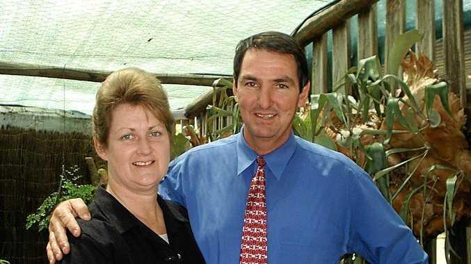 RURAL LIFESAVER: Lindsay Hart with his wife Jennifer.