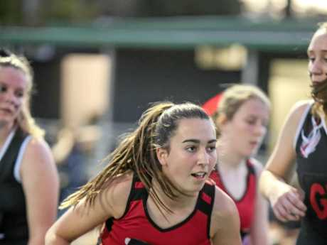 THE BALL'S MINE: Mylee Pynt from Saints who were 15U grand final runner-up.