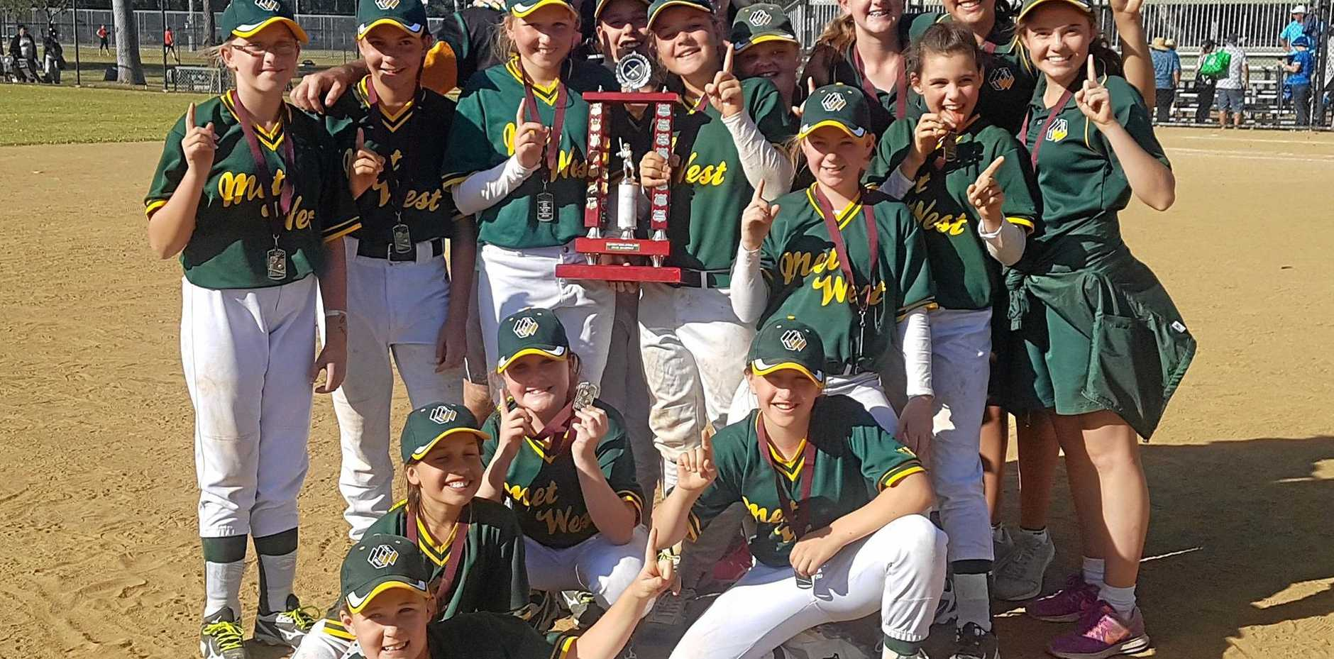 FINALLY: The Met West Under 12 team won 10 of 11 games to take out the Softball State Championships at Redlands.