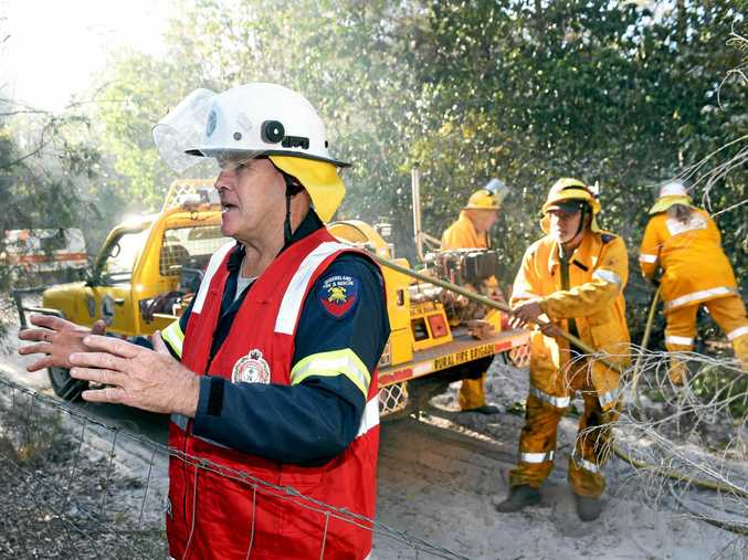 Monitoring of the Burrum Heads fire site continues -  Ian Beattie Training and Support Officer Queensland Rural Fire Service Maryborough.