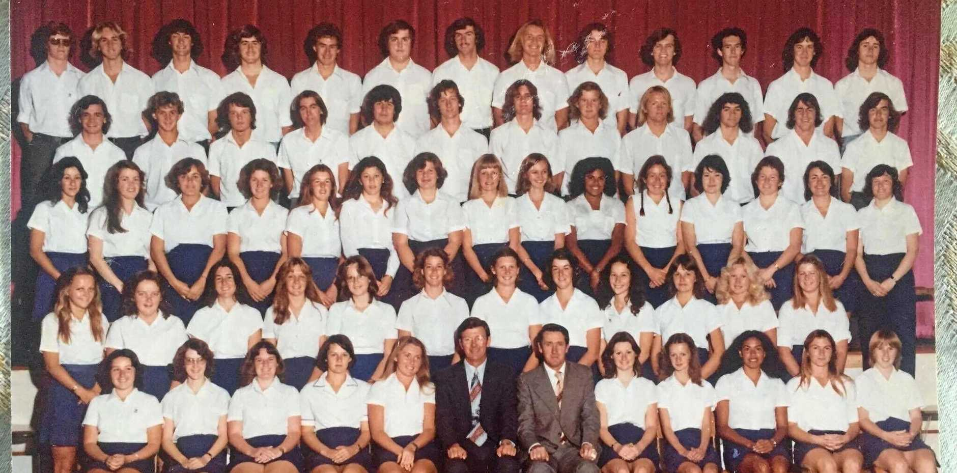 TIME FLIES: Tweed River High students from 1977.