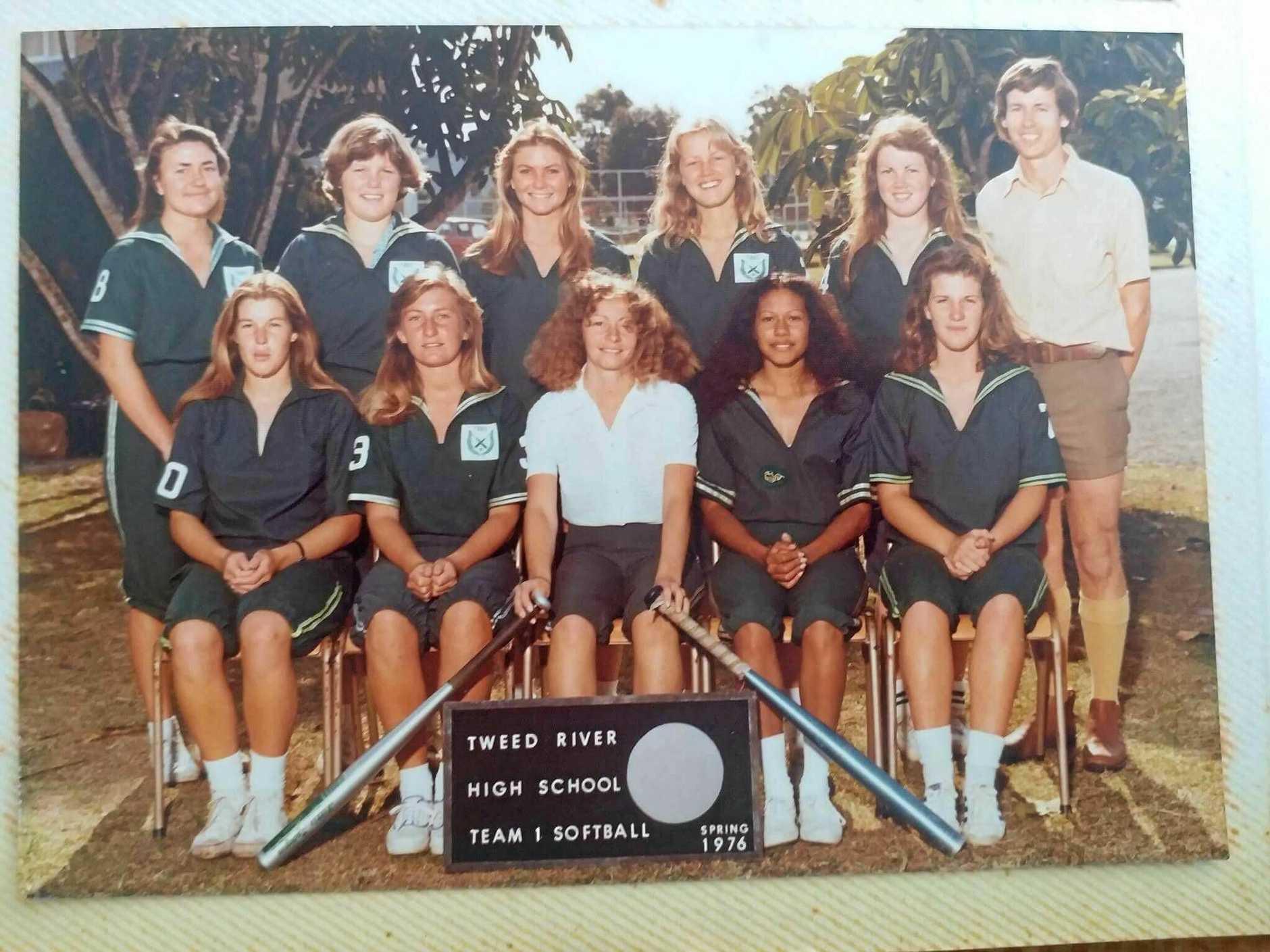 Team 1 softball, spring 1976.
