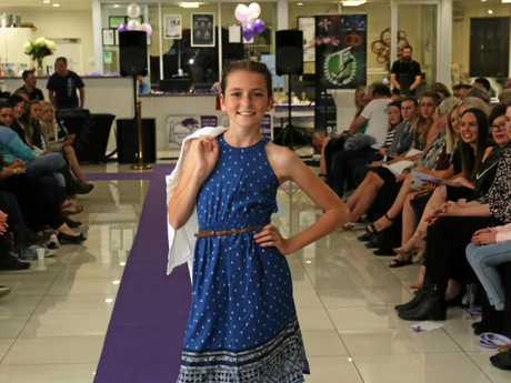 Junior Queen Candidate Holly Blundell shows her style