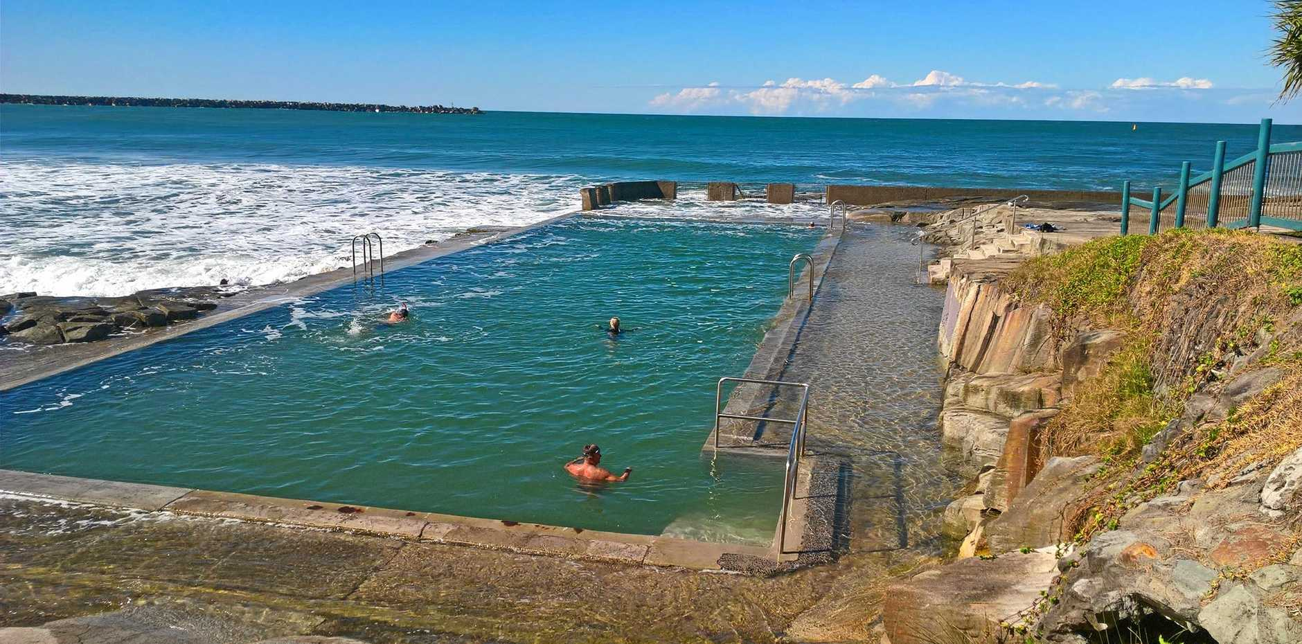 JUMP IN: Yamba's ocean rock pool is back open.