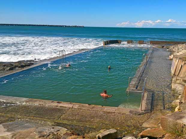 JUMP IN: Yamba's ocean rock pool is back open.