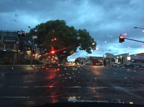 Toowoomba residents woke to rainy skies.