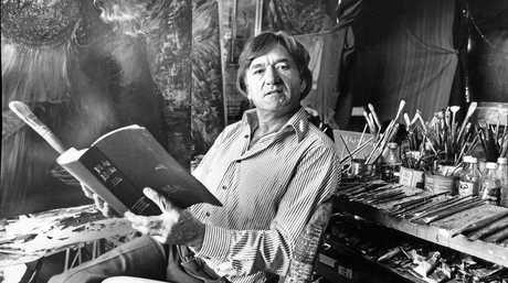 Wes in his studio at Bonbeach Carrum, Vic.
