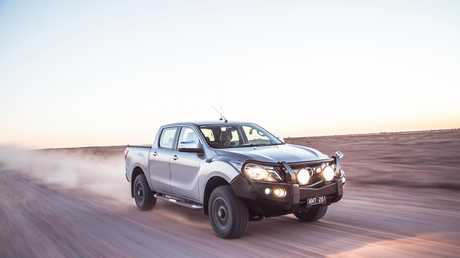 The Mazda BT-50 en route to Birdsville.