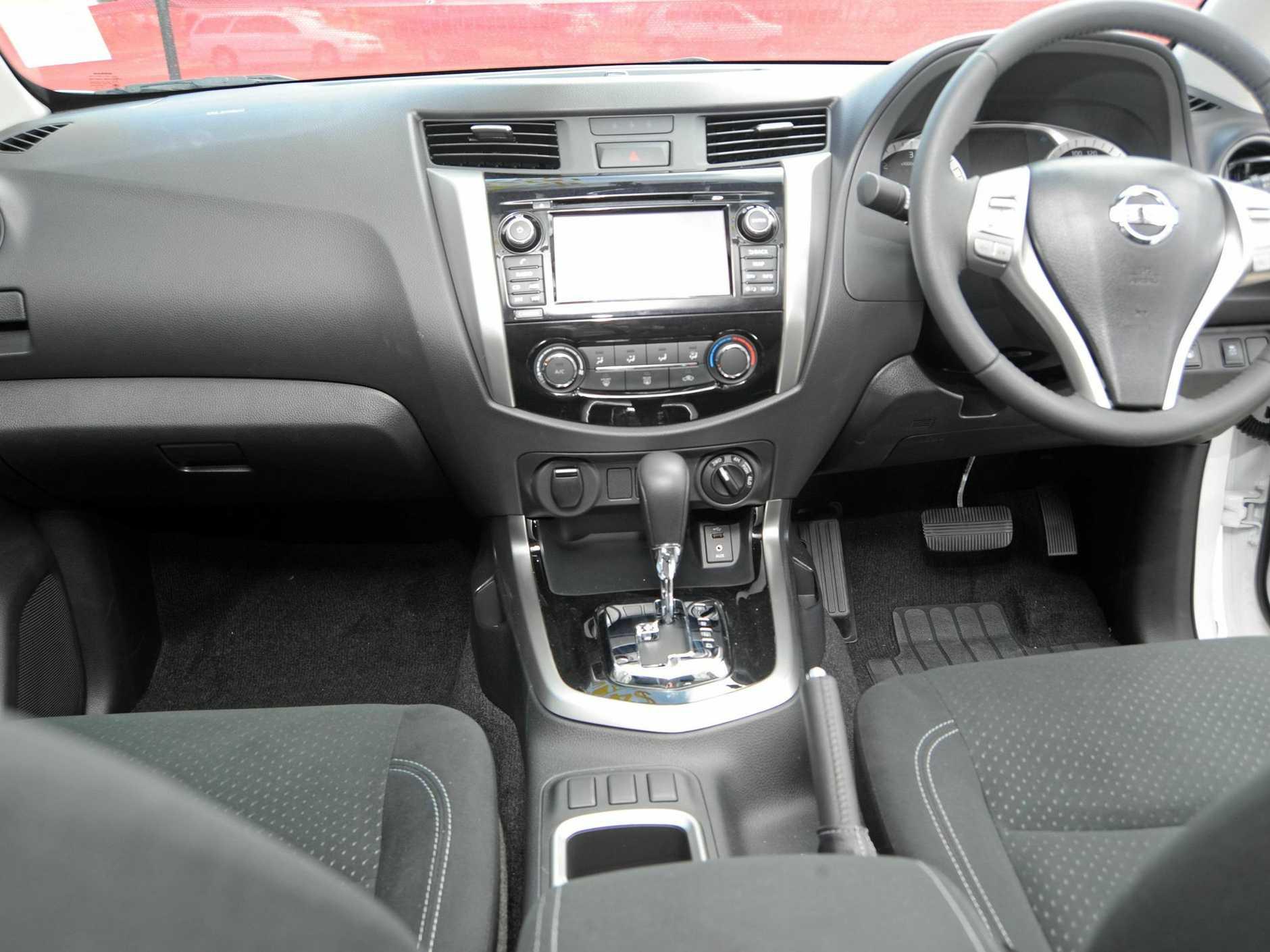 Inside the Nissan Navara ST.