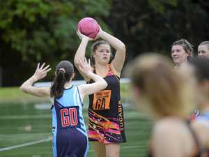 FINALS SEASON: Elly Brockwell during the Tucabia and City 'C' grade netball match.