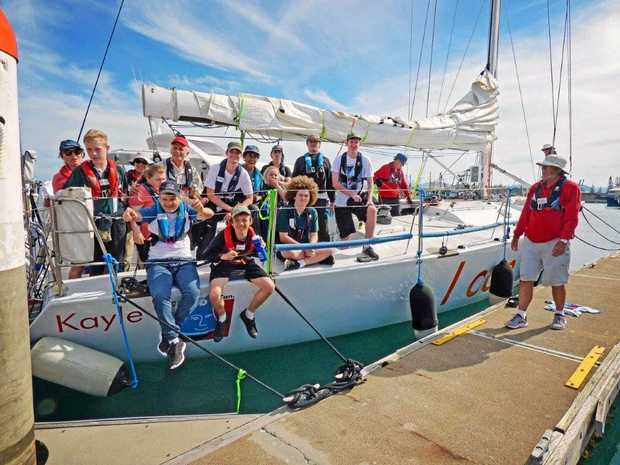 ALL ABOARD: Orara High school support unit students were given the opportunity to jump on board a sailing boat.