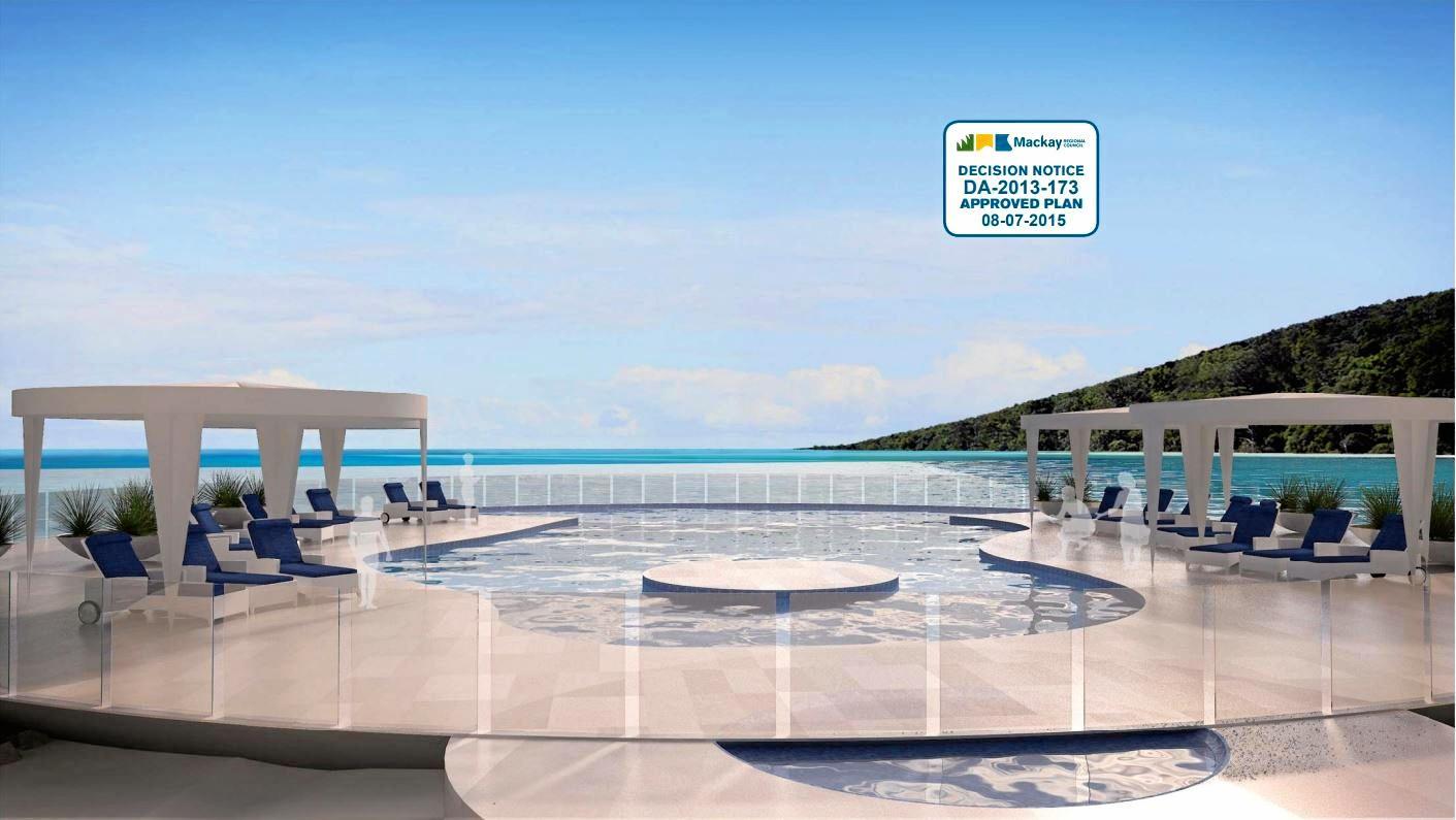 Artist's impressions of the seven star resort on Brampton Island.