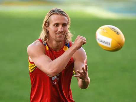 Matt Shaw during a Gold Coast Suns training session at Metricon Stadium.