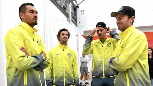 Nick Kyrgios and John Millman will lead Australia's Davis Cup battle.