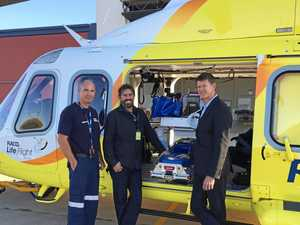 Airlifted man thanks rescue chopper operators for life saving trip
