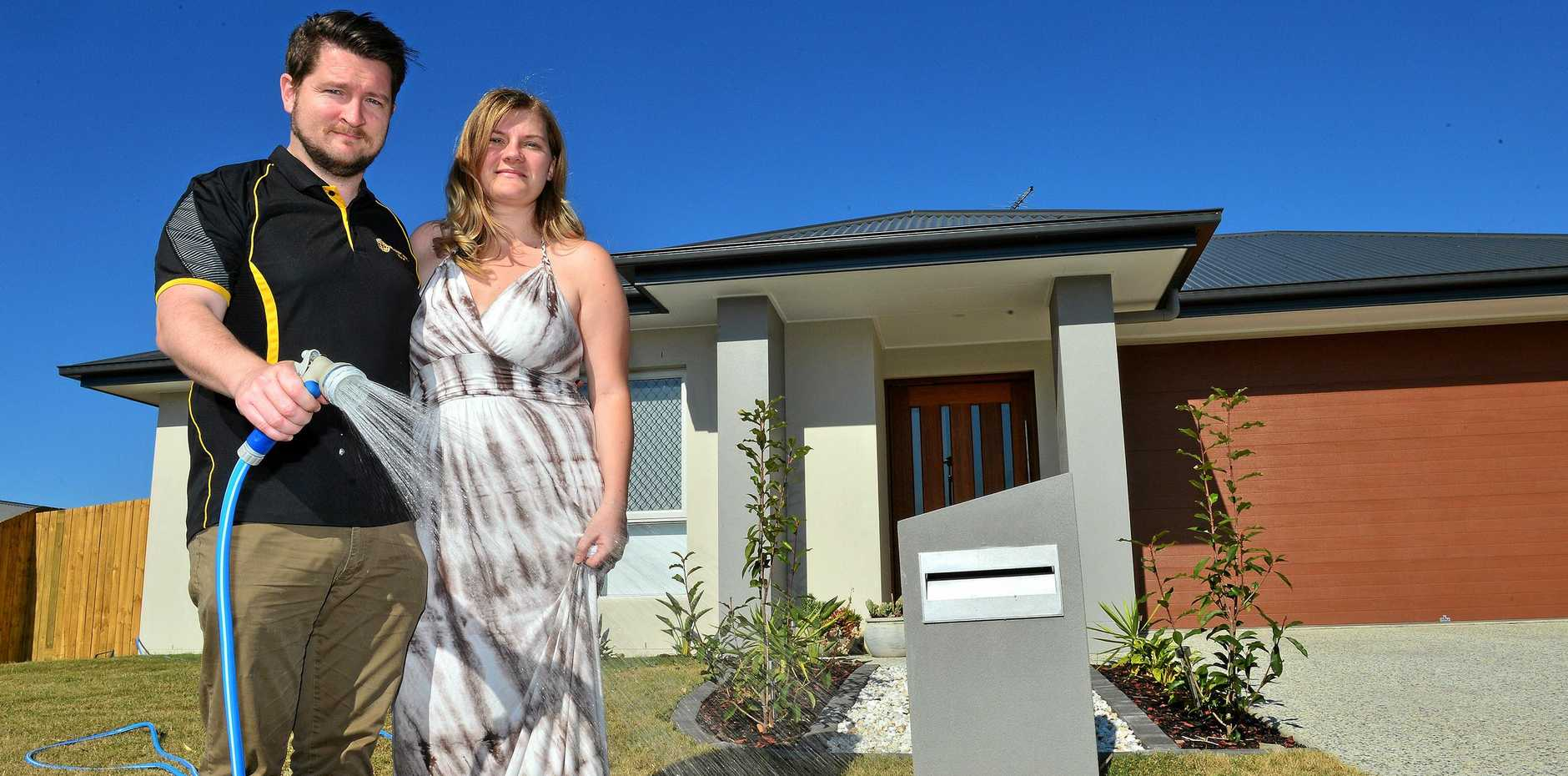 Dean Chesterman and Rebecca Dyne are loving life since they moved into their new home in Burnside.