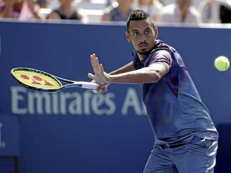 Nick Kyrgios during his first-round loss at the 2017 US Open.