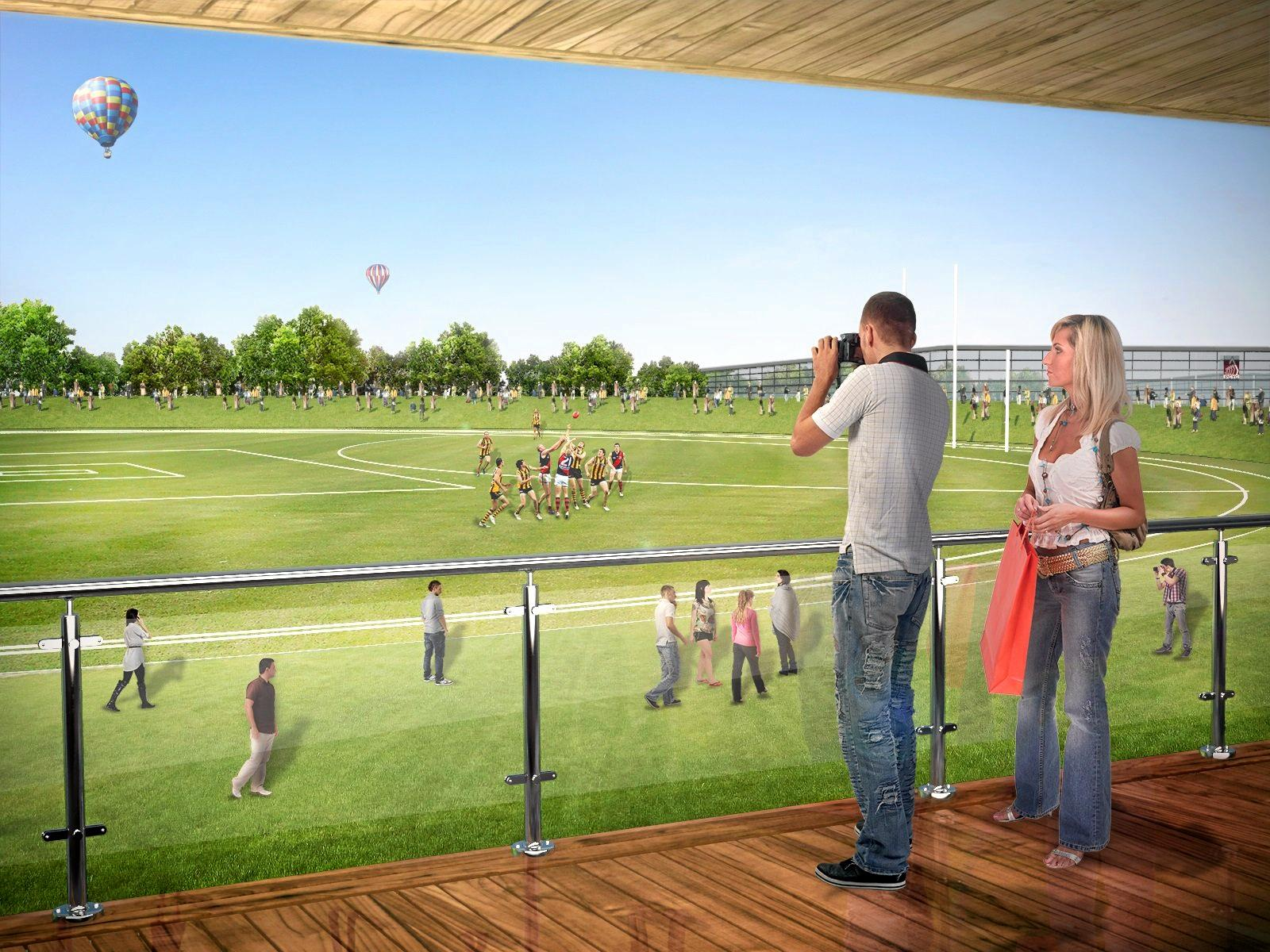 An artists impression of the Fraser Coast Sports Precinct. AEC Group will prepare the business plan for the project.