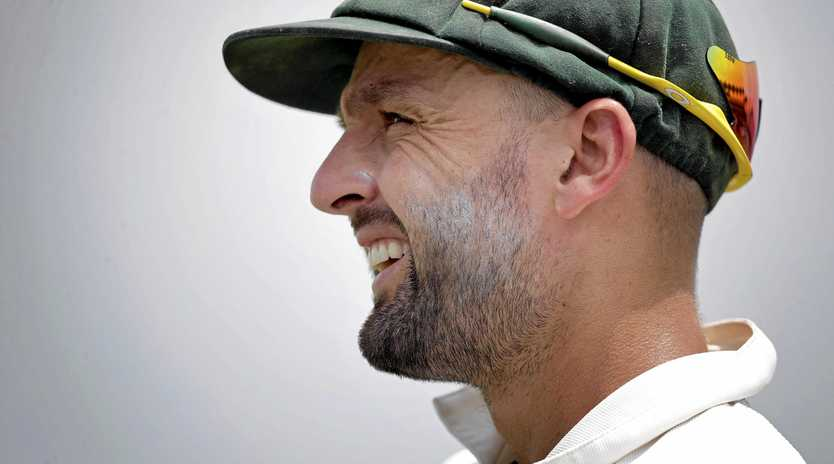Australia's Nathan Lyon in the field during the second Test against Bangladesh.
