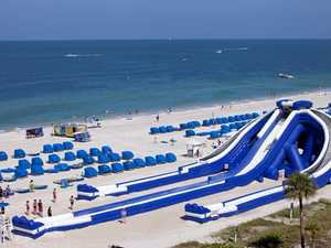 Giant beach slide to take its first riders this weekend