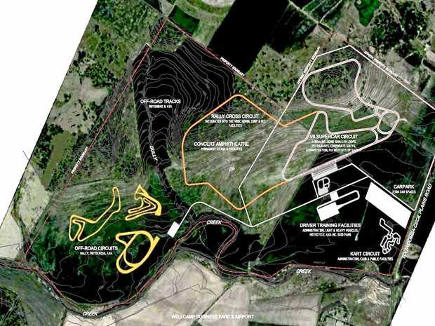 Proposed race circuit for Wellcamp Airport