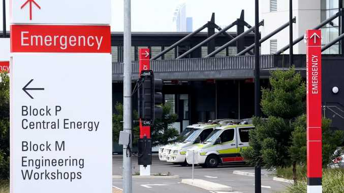 The entrance to Gold Coast University Hospital Emergency Department.