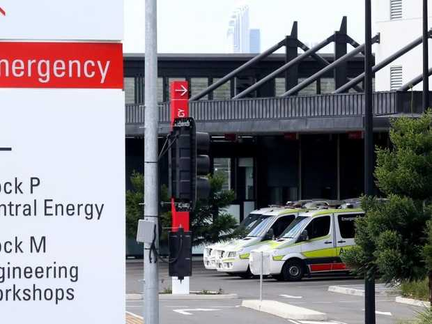 The entrance to Gold Coast University Hospital Emergency Department. Picture by Scott Fletcher