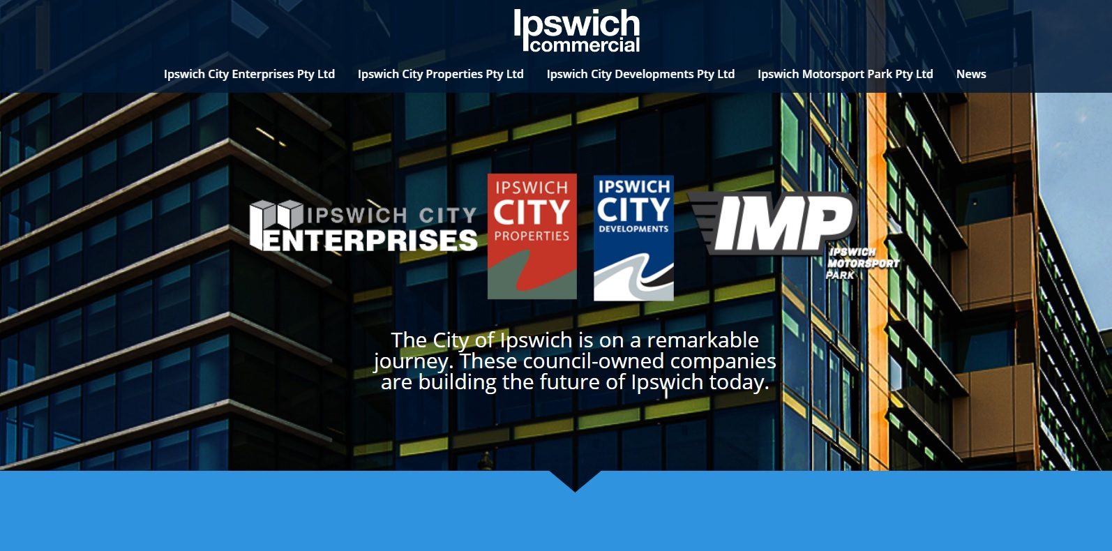 The Ipswich Commercial website, launched this year to boost transparency around council-owned companies.