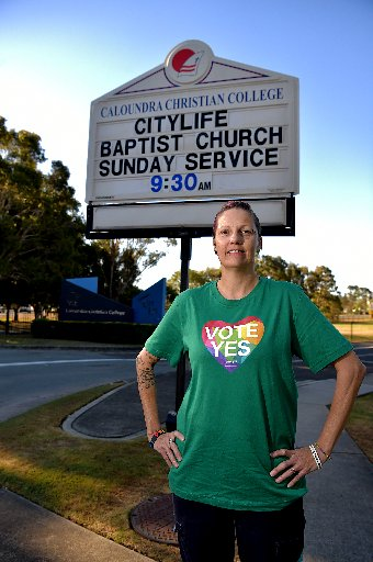 Sunshine Coast Pride Network co-chair Fiona Anderson.