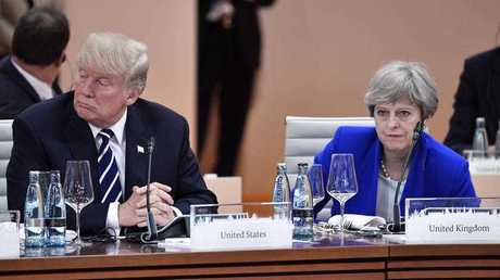 US President Donald Trump, left, and Britain's Prime Minister Theresa May.