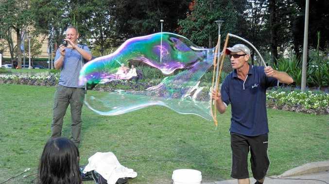BLOWING BUBBLES: Mr Incredi bubble will be a festival favourite.