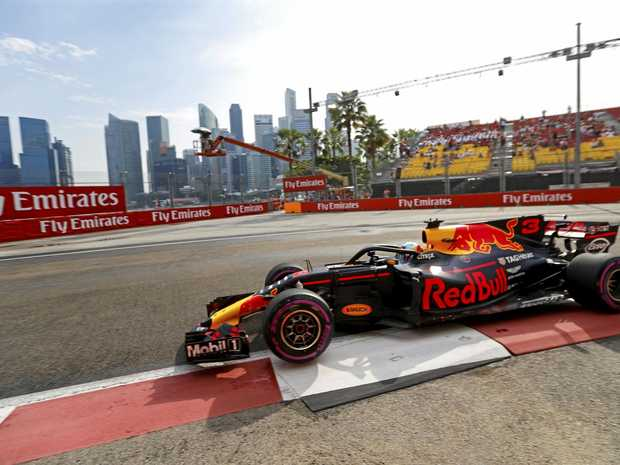 Australian driver Daniel Ricciardo of Red Bull during the first practice session for the Singapore Grand Prix.