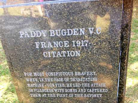 Community Commemoration day for Private Patrick (Paddy) Bugden VC at Alstonville on Saturday, September 16, 2017.