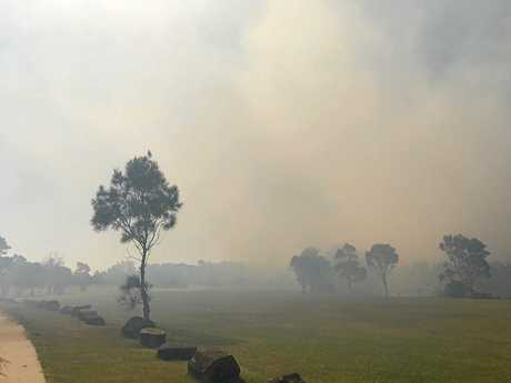 Fire near Byron bay Elements.