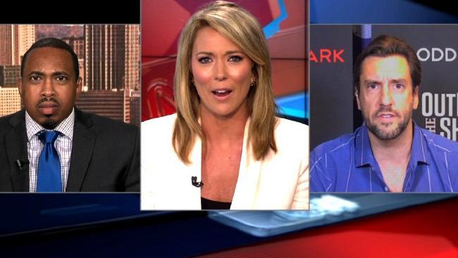 Brooke Baldwin looking suitably shocked.Source:CNN