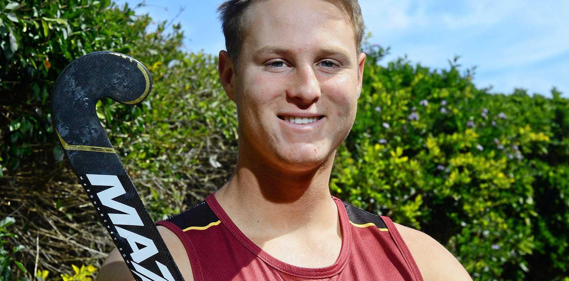 Queensland Blades goalkeeper Cade Banditt is preparing for the Australian Hockey League tournament in Perth.