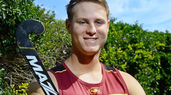 Queensland Blades goalkeeper Cade Banditt is preparing for the Australian Hockey League tournament in Perth.