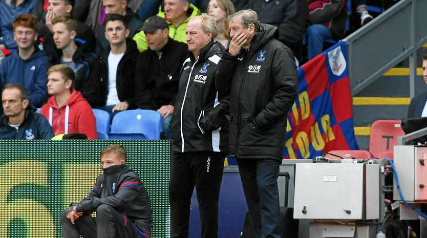Crystal Palace manager Roy Hodgson (right) has plenty of work to do after a fifth straight defeat for his new team.