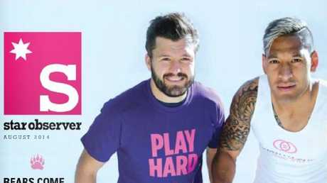 Israel Folau was previously a cover star of LGBTI magazine the Star Observer supporting a gay rugby tournament.