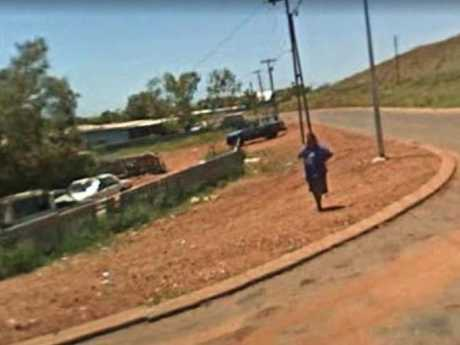 A street in the tiny town of Roebourne, Western Australia, which is in the grip of a paedophile epidemic.