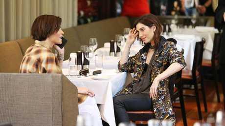 Actor Ruby Rose and her partner Veronicas singer Jessica Origliasso.