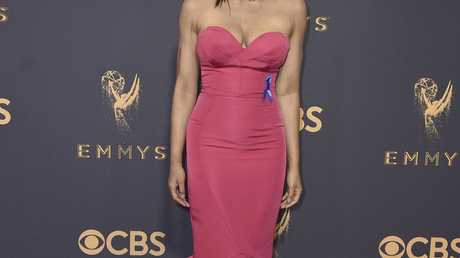 Padma Lakshmi arrives at the 69th Primetime Emmy Awards on Sunday, Sept. 17, 2017, at the Microsoft Theater in Los Angeles.